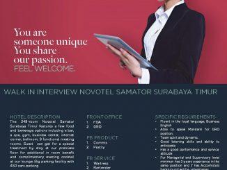 Lowongan Kerja Novotel Samator