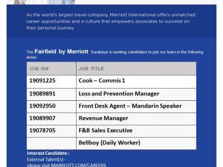 Lowongan Kerja di Marriott International