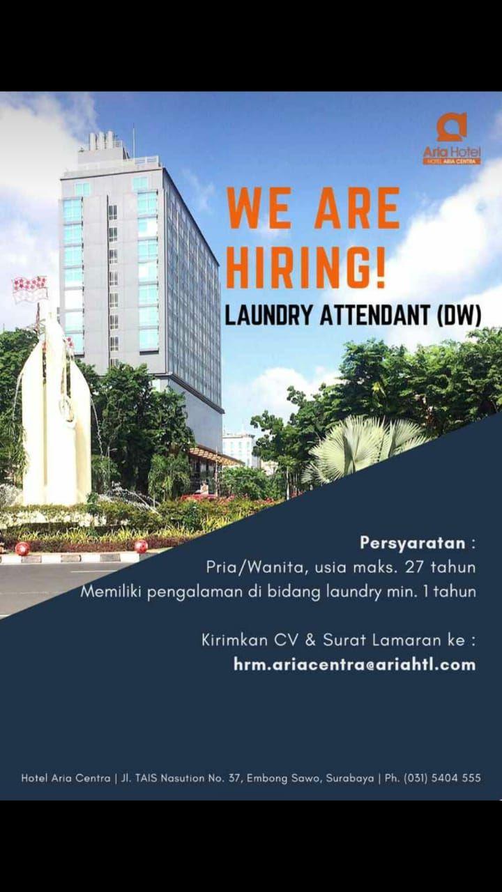 Lowongan Kerja Laundry Attendant Di Hotel Aria Centra Surabaya Ikatan Alumni Stp Satya Widya